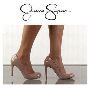 Jessica Simpson Calie Nude Patent Heel